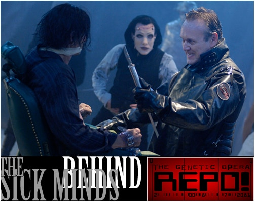 Cast Central Links http://www.dreadcentral.com/interviews/repo-cast-crew-repo-the-genetic-opera