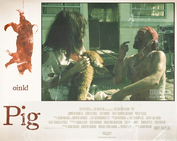 New Lobby Cards: Adam Mason's Pig (click for larger image)