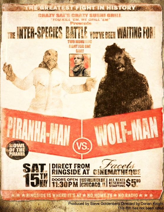 Take a Bite out of the Piranha Man vs, Wolf Man Trailer