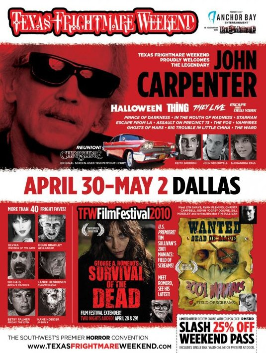 Premiere Update: 2001 Maniacs: Field of Screams at Texas Frightmare Weekend