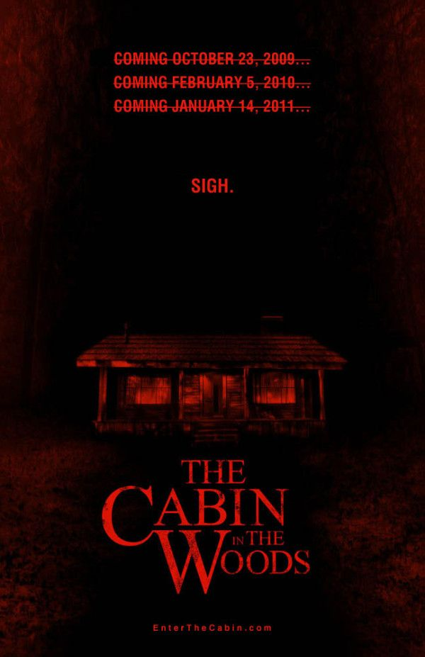 Frustrating New Cabin in the Woods One-Sheet