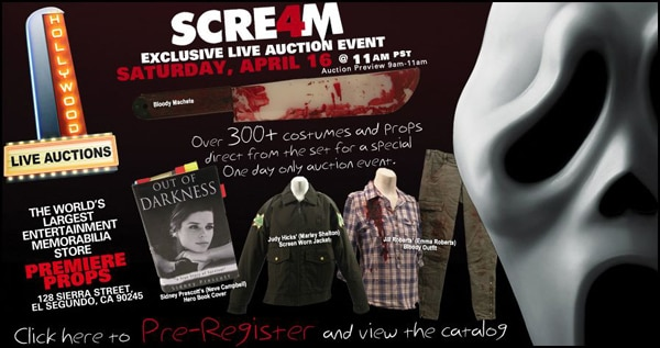 Scream 4 Auction - Own a Piece of Horror History