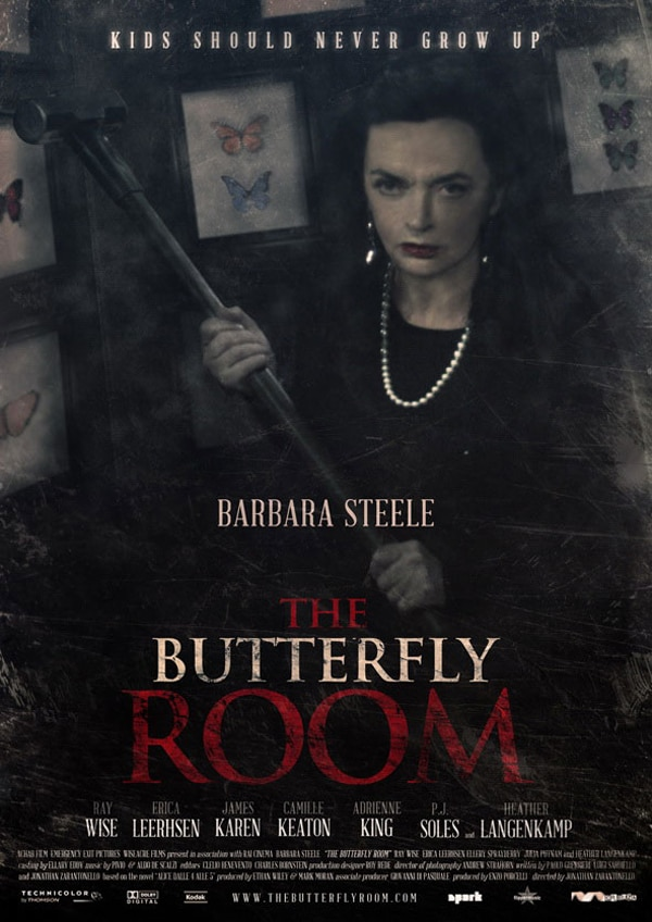 Barbara Steele Front, Center, and Deadly on New Butterfly Room Art
