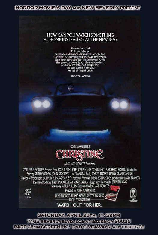 Classics on the Big Screen! Hey LA, Check Out Christine This Weekend at the New Bev