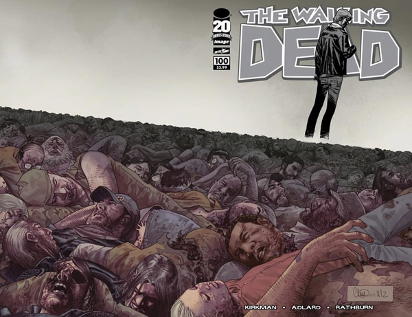The Walking Dead Reveals Cover for Issue #100 (click for larger image)