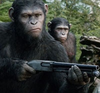 Dawn of the Planet of the Apes Tidbits; Alternate Ending and Watch Real Chimps Watch the Film!