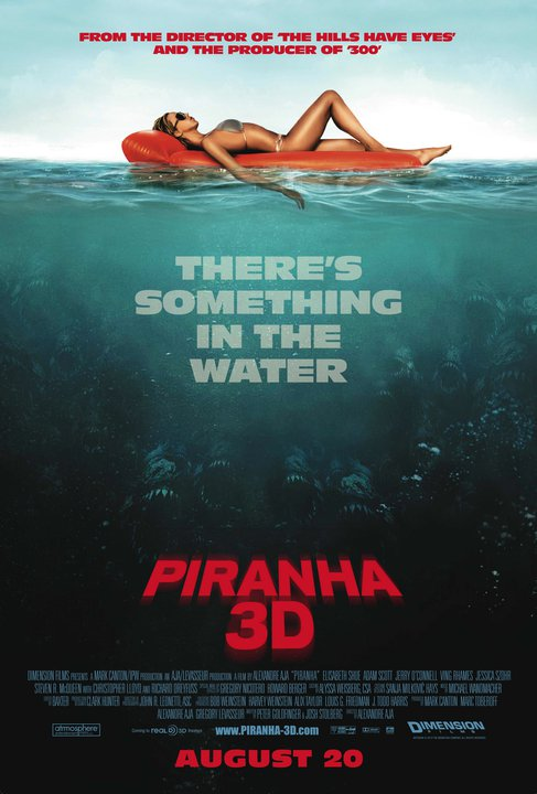 Slightly Revised Piranha One-Sheet Puts the Bite On; Website Update