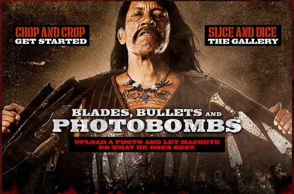 Machete Photo Bomb Site Puts You in the Action
