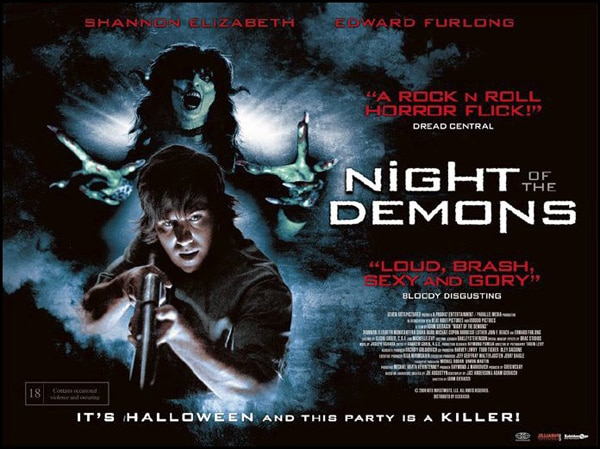 New Night of the Demons UK Quad Poster