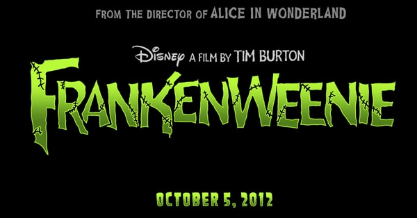 What's This? Text on a Screen that Spells Frankenweenie?!?