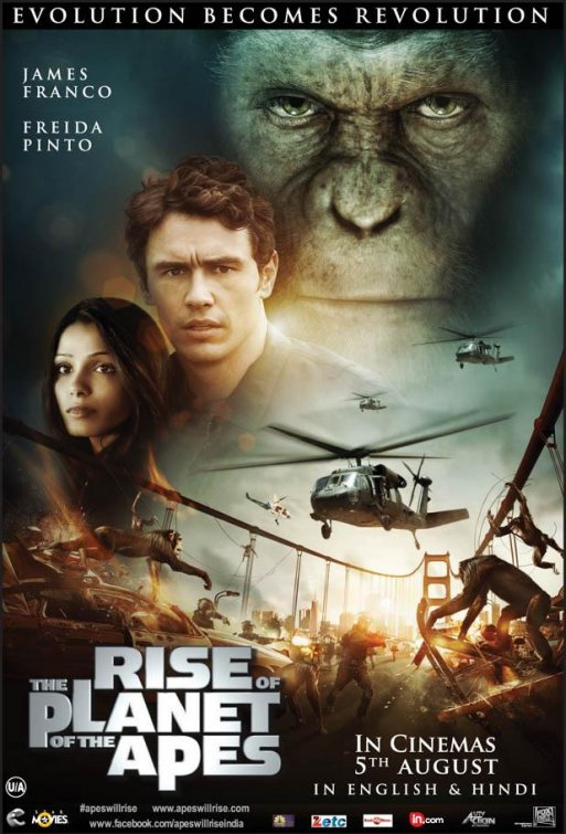 New International One-Sheet Debut - Rise of the Planet of the Apes