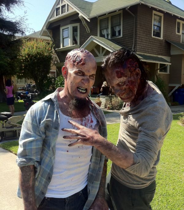 More from Scott Ian on the set of The Walking Dead