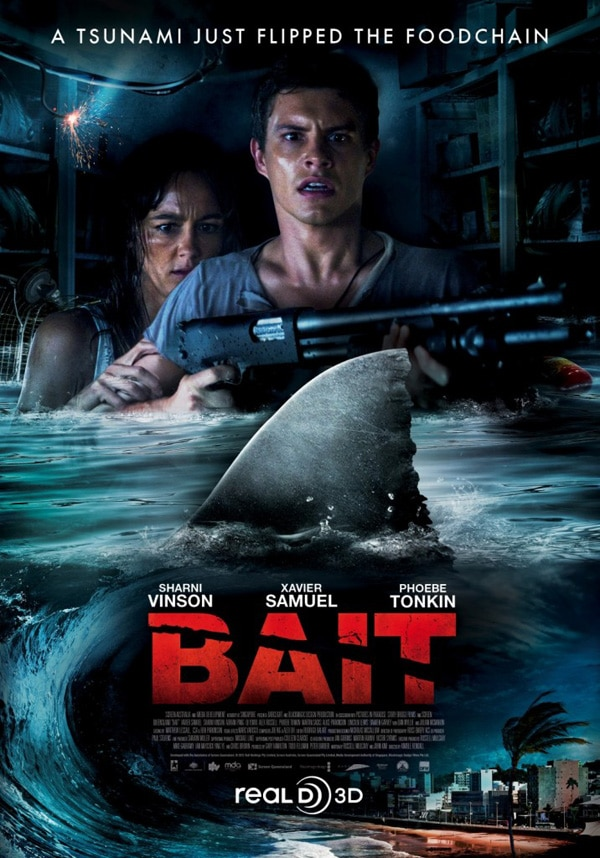 International Poster for Bait 3D Flips the Food Chain!