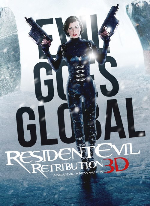 New Resident Evil: Retribution One-Sheet Has the Blues