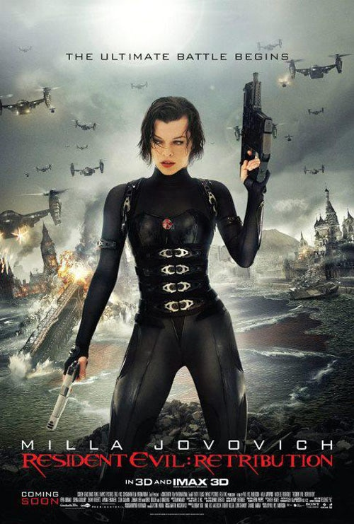 More Milla in Latest Resident Evil: Retribution One-Sheet