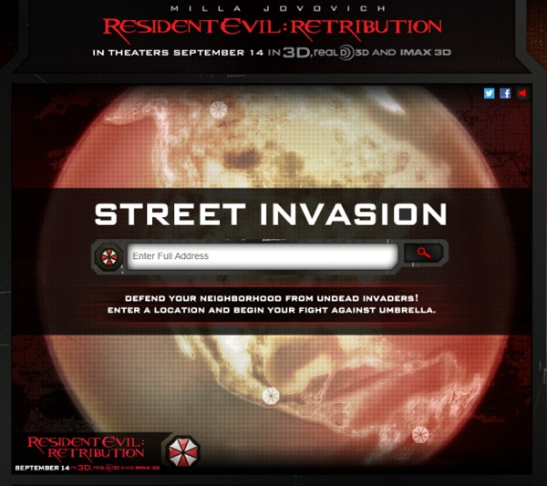 Fight the Undead In New Resident Evil: Retribution Street Invasion Game