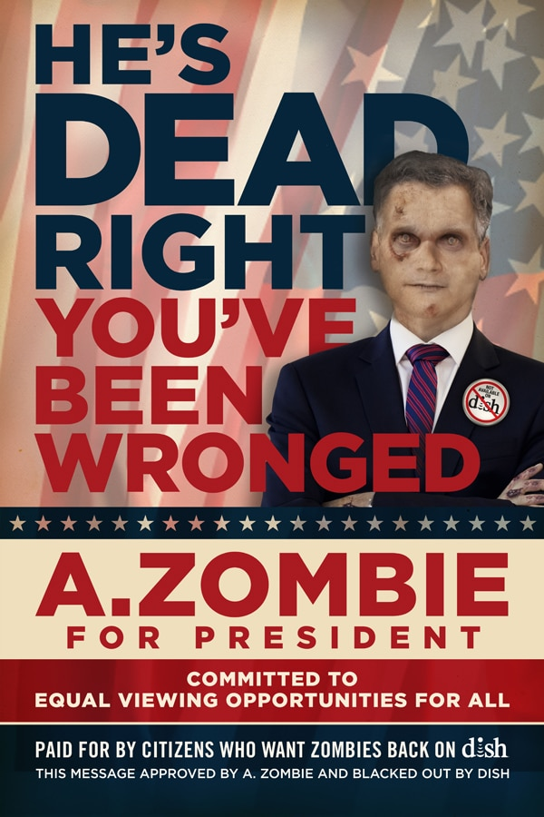 More AMC/Dish Network Shenanigans - A. Zombie Enters the 2012 Presidential Race