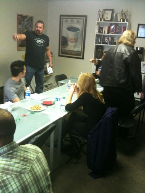 Terror Tweets: Images from Hatchet 2 Table Read