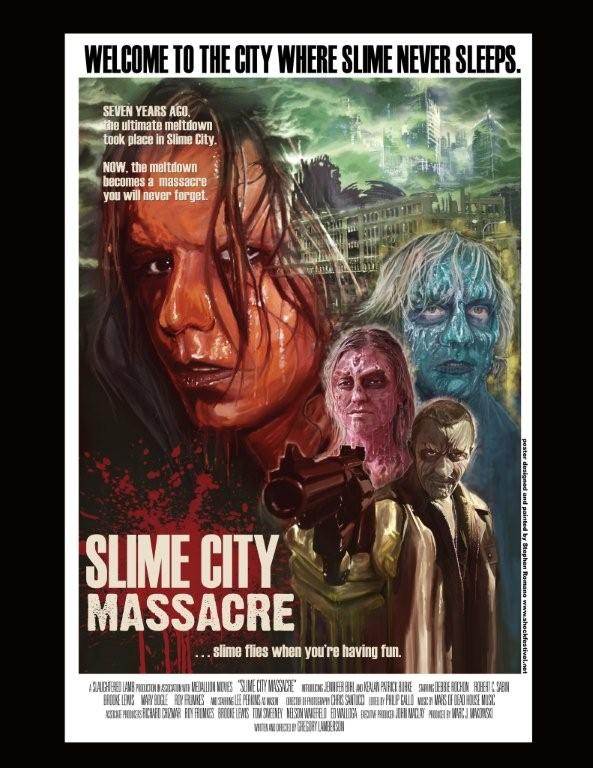 Official Slime City Massacre Poster by Stephen Romano