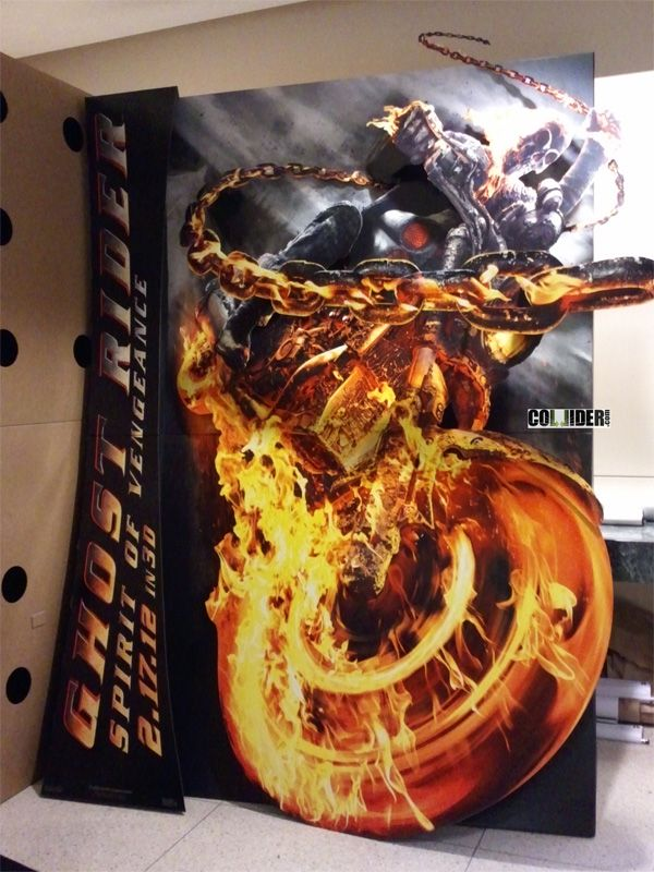 Badass Ghost Rider: Spirit of Vengeance Theatre Standee Revealed