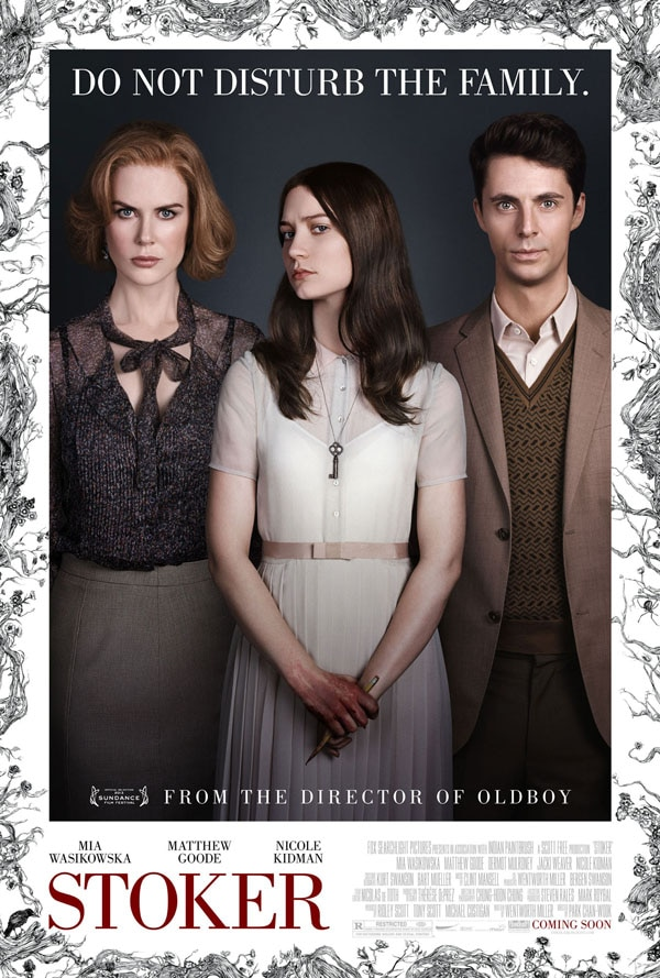 Sundance 2013: Do Not Disturb the Official Stoker One-Sheet