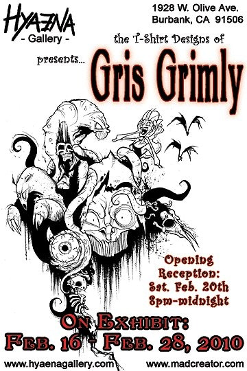 Gris Grimly Artwork on Exhibit at Hyaena Gallery