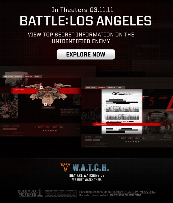 Battle: Los Angeles - View Top Secret Information on the Unidentified Enemy!