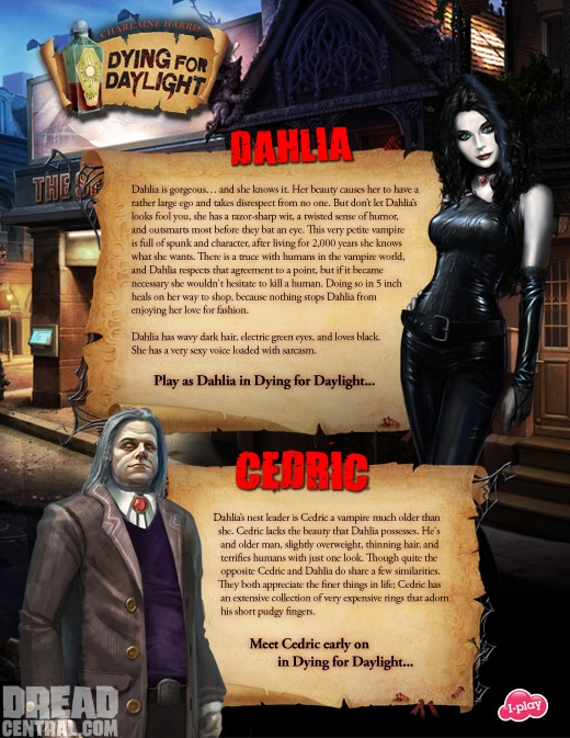 Exclusive Look at Character Profiles from Charlaine Harris' Dying for Dahlia PC Game