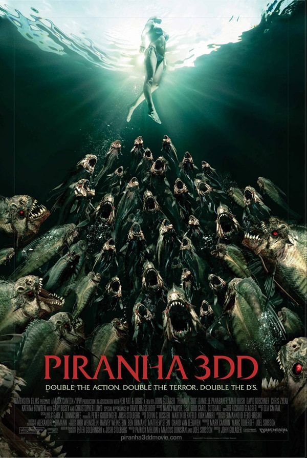 Piranha 3DD Fed to the MPAA and the Rating is IN!