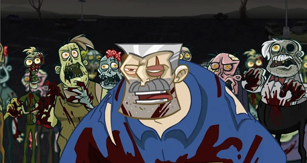 The Zombie Apocalypse - Now in Hilarious Cartoon Variety