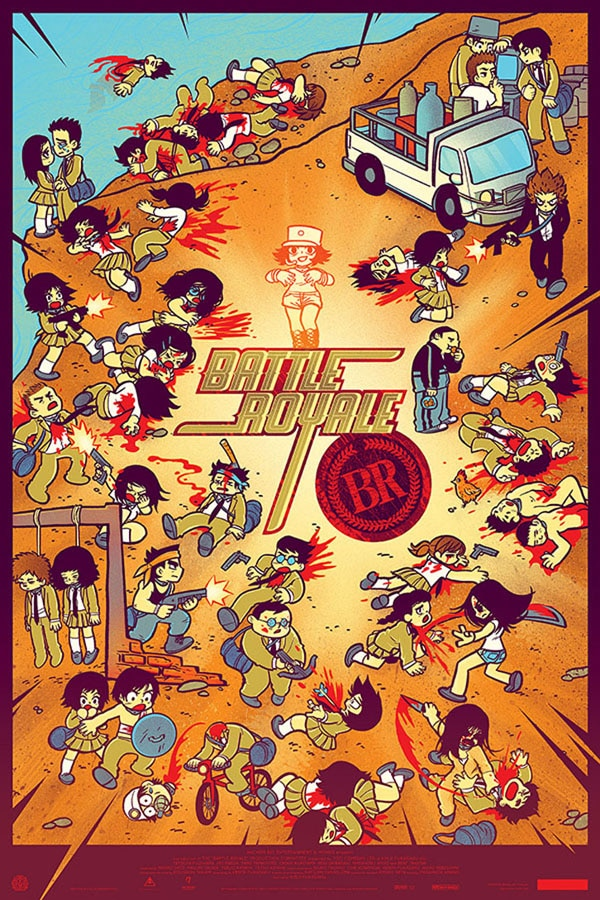 Battle Royale - Tugg it to a Theatre Near You; Mondo Poster Unveiled