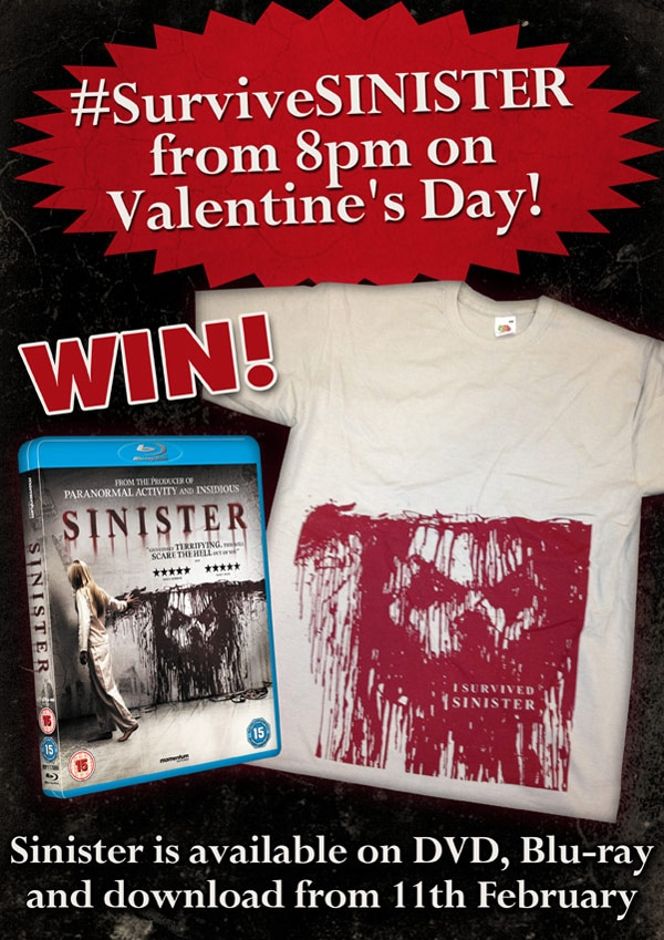 UK Readers: Win a Sinister Blu-ray and T-shirt; Join the Valentine's Day Twitter Party