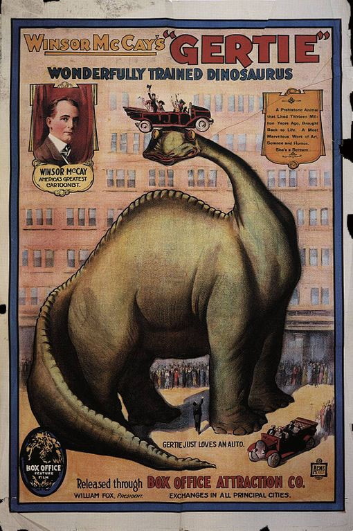 Horror History: Happy 100th Birthday to Gertie The Wonderful Trained Dinosaur