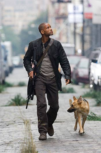 Will Smith and Dog