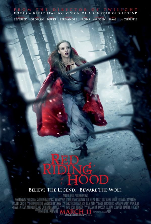 Amanda Seyfried Knows There's Something in the Woods in New Red Riding Hood One-Sheet