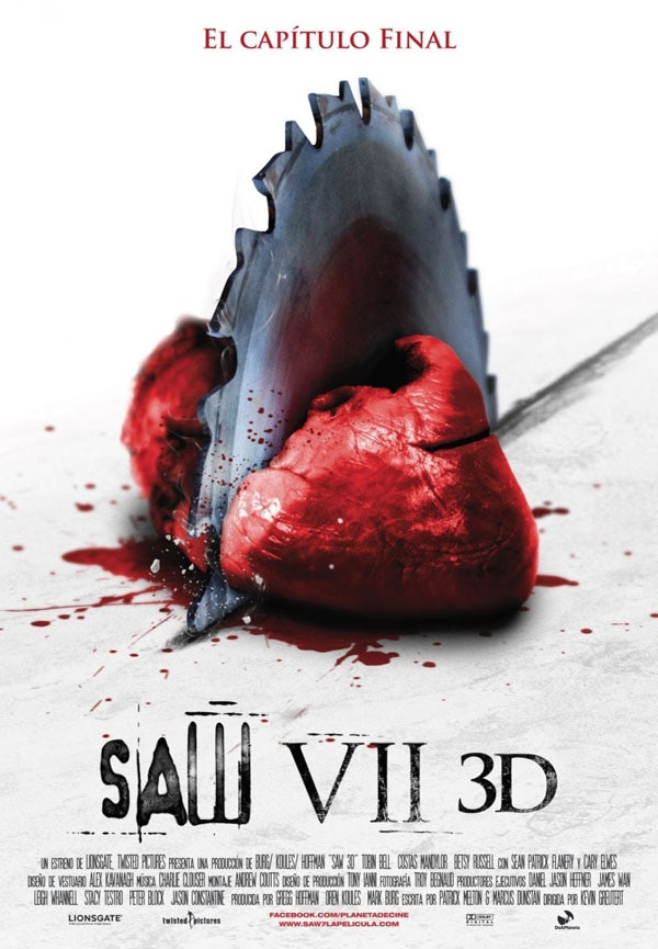 International Saw VII 3D Poster Cuts to the Heart of the Matter