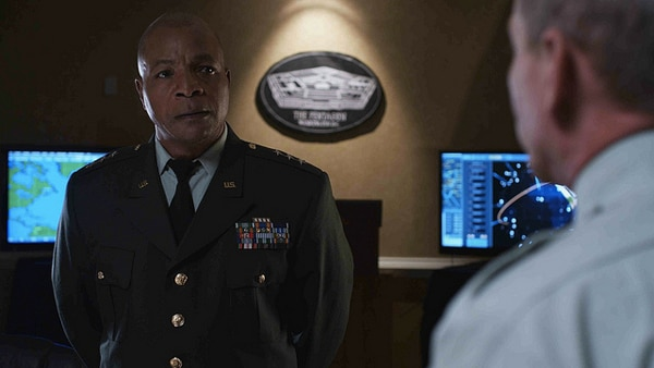 First Images of Mario Van Peebles and Carl Weathers Aboard The Asylum's American Battleship