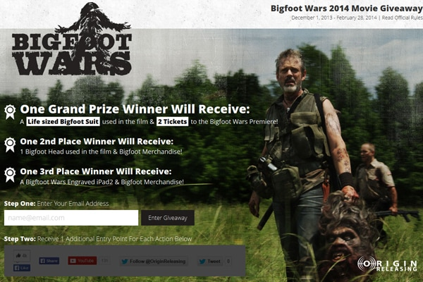 Win a Life-Sized Bigfoot Suit or Maybe Get Some Head from Bigfoot Wars!