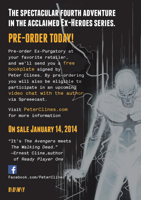 Pre-Order Peter Clines' Ex-Purgatory for a Chance to Chat with the Author!