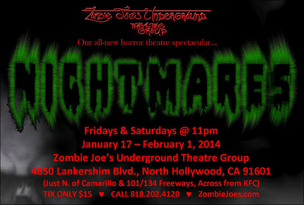 LA's ZJU Theatre Group Kicks Off 2014 with New Horror Spectacular Nightmares