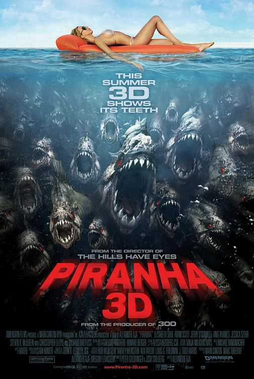 Piranha 3D Blu-Ray and DVD Specs Swim On In!