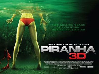The UK Quad Poster for Piranha 3D Bares Some Flesh