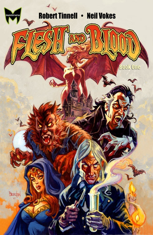 Flesh and Blood Graphic Novel Volume 1 Cover Art Debut