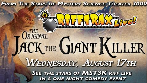 RiffTrax Live: Jack the Giant Killer Coming to Theatres in August