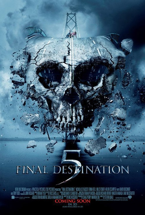 Latest Final Destination 5 One-Sheet: Suspension Bridge Comes Falling Down. Falling Down. Falling Down.