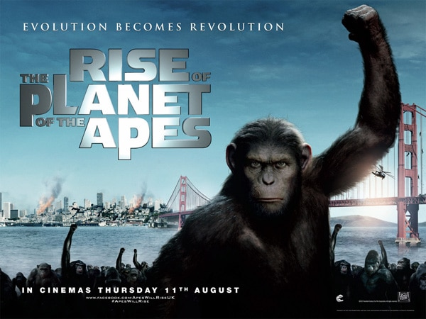 New Rise of the Planet of the Apes Quad Poster and TV Spots