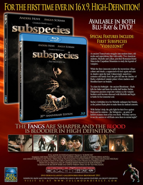 Full Moon's Subspecies Crawl their Way to Blu-ray