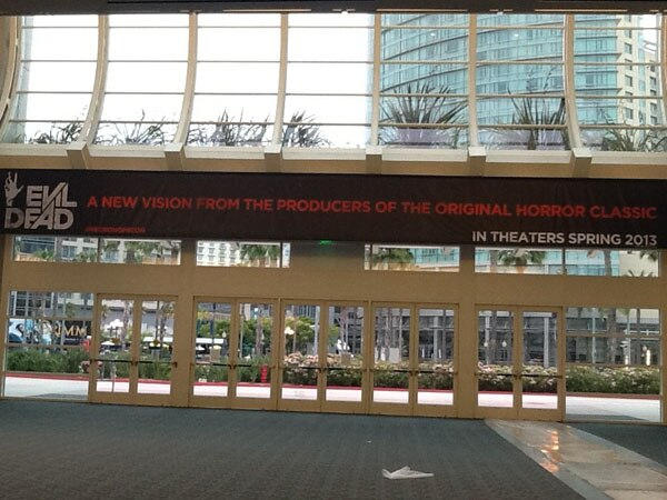 San Diego Comic-Con 2012: Handy New Evil Dead Banner (click for larger image)