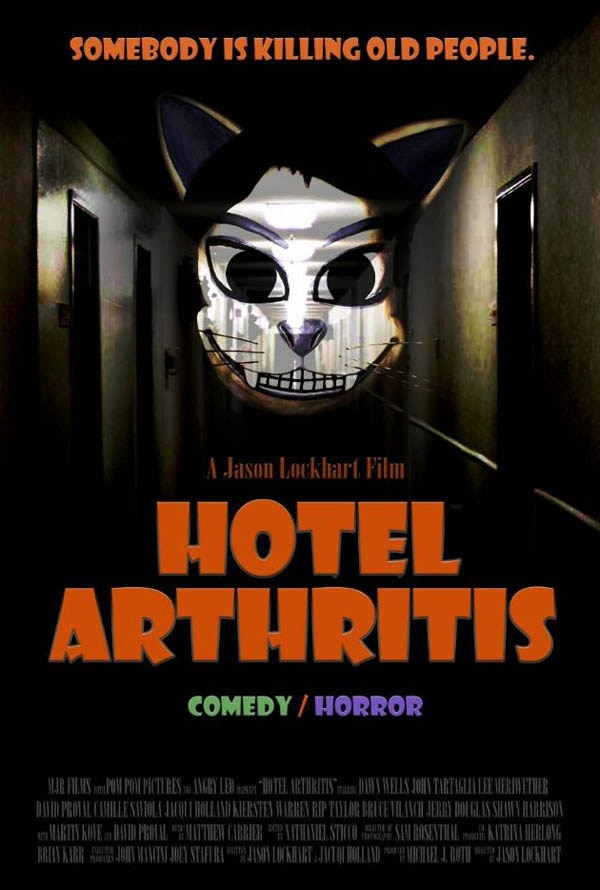 Check in to a New Trailer and One-Sheet for Hotel Arthritis