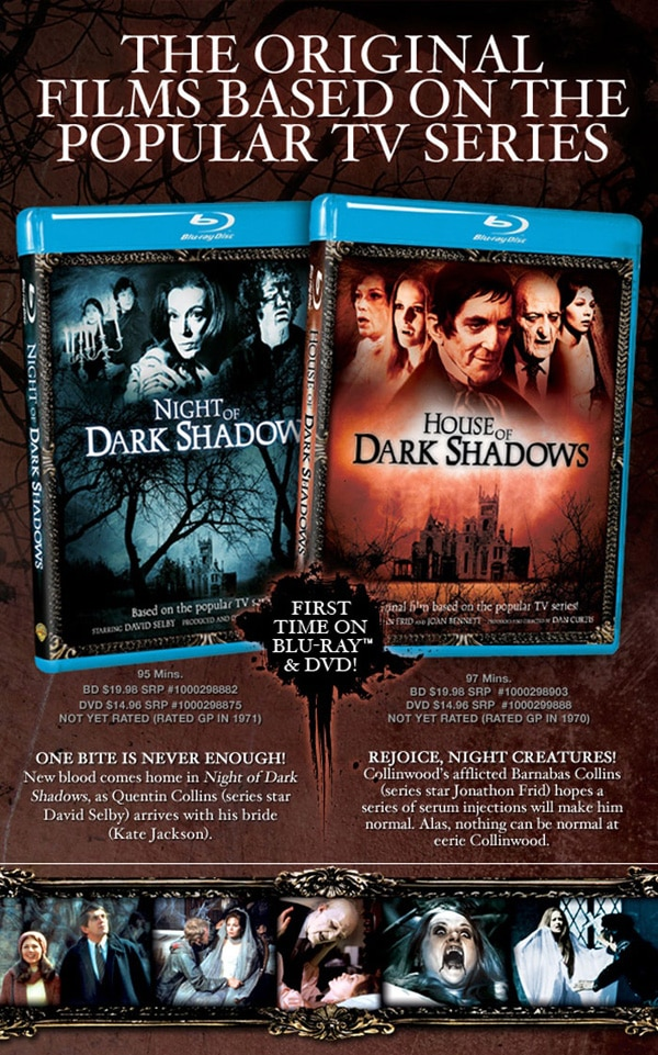 Win Copies of House of Dark Shadows and Night of Dark Shadows on Blu-ray!
